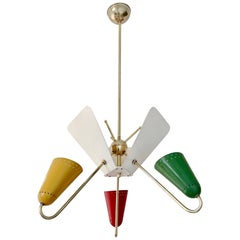 Kobis and Lorence Reflector Hanging Lamp, France, circa 1950