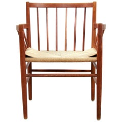 Midcentury Danish Circle Chair by Jørgen Baekmark for FDB Møbler Model J81