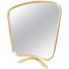 Vanity Brass Table Mirror by Vereinigte Werkstätten München, Germany, 1950s