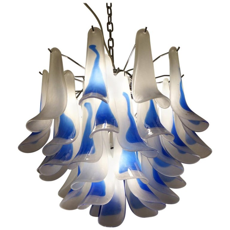 Alberto Donà Mid-Century Modern Crystal Murano Glass Selle Chandelier, 1992s For Sale