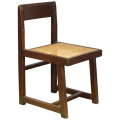 Pierre Jeanneret Box Chair from Chandigarh PJ-SI-54-A with Signes