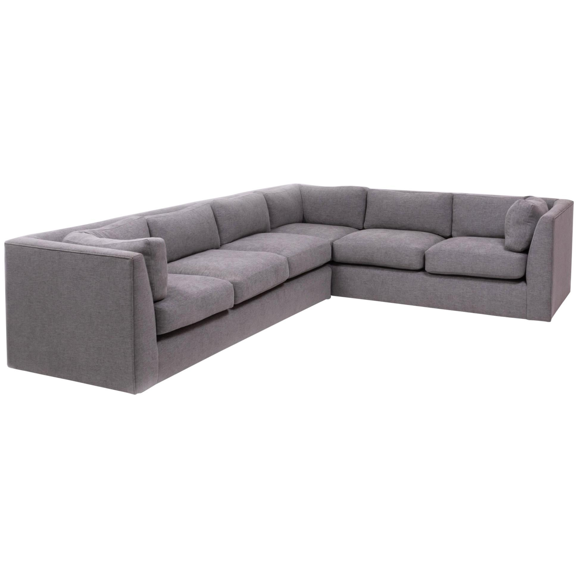 Midcentury Grey Fabric Sectional Corner Sofa by Milo Baughman For ...