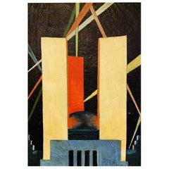 """Federal Building, Century of Progress Exposition,"" Brilliant Art Deco Painting"
