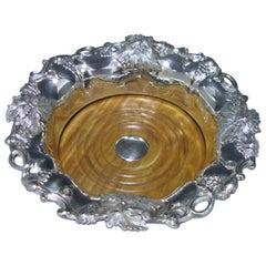 Single Antique Sterling Silver Wine Coaster, 1835