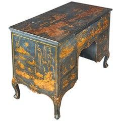 18th Century Italian Painted Desk Venetian Lacquered Bureau Venice, Italy, China
