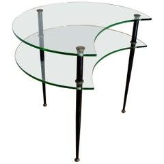 Edoardo Paoli Mid-Century Modern Italian two Shelves Coffee Table by Vitrex 1955