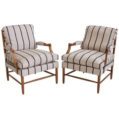 Pair of Striped Gripsholm Armchairs