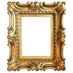 Venetian Sansovino Palatial Early Baroque Style Carved and Gilded Frame
