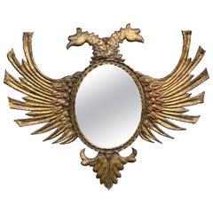 Russian Gilt Tole Double Eagle Mirror