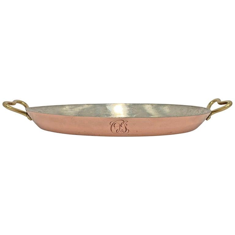 Joseph Heinrichs Copper Au Gratin Pan For Sale