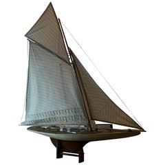Model Sailboat of Impressive Stature and Workmanship