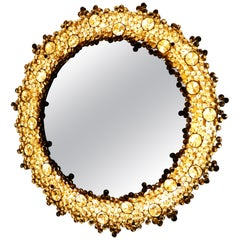 Illuminated Gold Palwa Mirror with Swarovski Crystals, Germany, 1970s