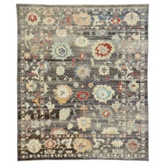 Contemporary Turkish Oushak Rug with Eclectic Regency or Modern Venetian Style