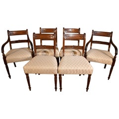 Superb Set of Eight Regency Period Mahogany Dining Chairs