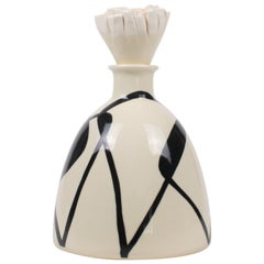 Contemporary Ceramic Bottle with Stopper, Flacon Contour 22