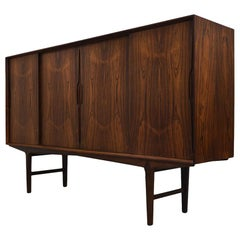 Midcentury Danish Rosewood Highboard by O. Frandsen for Knud Nielsen, 1960s