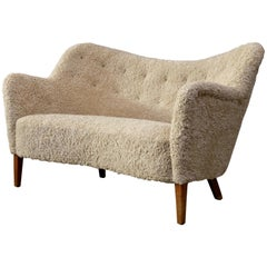 Rare Finn Juhl Sofa Produced by Carl Brorup, Denmark, 1940s