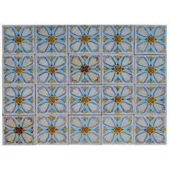 20 Art Deco Relief Tiles by Gilliot , 1930