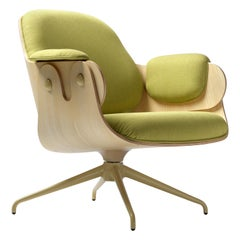 Jaime Hayon, Contemporary, Ash, Pistachio Upholstery Low Lounger Armchair