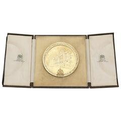 Antique Scottish Sterling Silver Gilt Medallion, 1923
