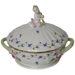 New 20th Century Hand Painted Porcelain Herend Tureen, Hungary