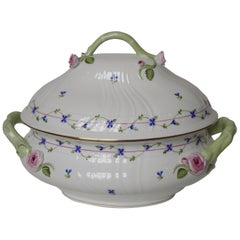 New 20th Century Hand Painted Porcelain Herend Soup Tureen, Hungary