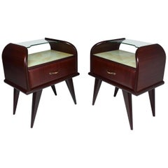 20th Century Italian Mahogany Nightstands, 1950s
