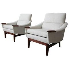 Pair of Midcentury Danish Lounge Chairs