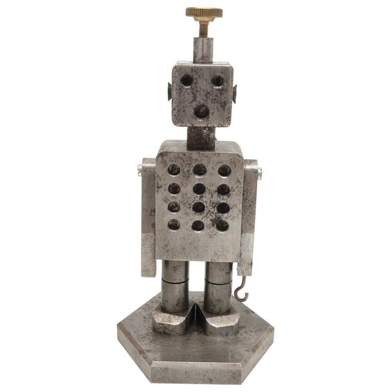Industrial Robot Scale Design Model Desk Sculpture, German, 1970s For Sale