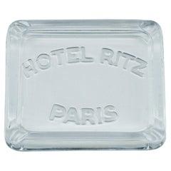 1930s Hotel Ritz Paris Glass Cigarette Ashtray Luxury Relic Coco Chanel Art Deco