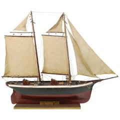 Wooden Model of a Schooner