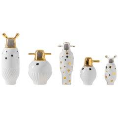 Set of Jaime Hayon Contemporary Glazed Stoneware 'Showtime 10' Vases