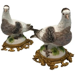 Pair of 19th Century Samson Porcelain Birds