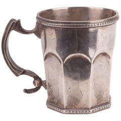 18th Century Peruvian Sterling Silver Jug with Pearl Decoration