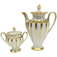 Fürstenberg Porcelain, Grecque, Athena, Coffee and Sugar Box