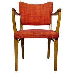 Midcentury Swedish Beechwood Armchair from NK, 1950s