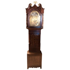 19th Century Victorian Oak England-Galles Moon phase Grandfather Clock, 1790s