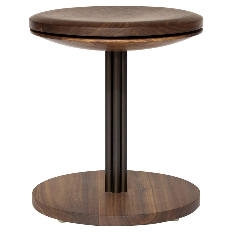 Inez Modern Chair and Stool with Swivel For Sale