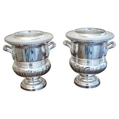 Fine Pair of Campana Style Wine Coolers, Champagne Ice Buckets
