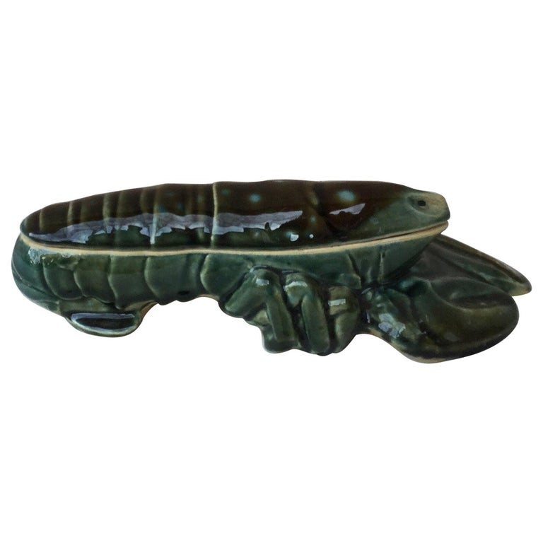 Majolica Lobster Tureen, circa 1950 For Sale