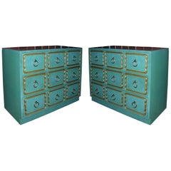 "Pair of Classic ""Espana"" Chests in the Style of Dorothy Draper"