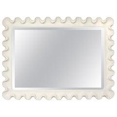 Plaster Scalloped Mirror