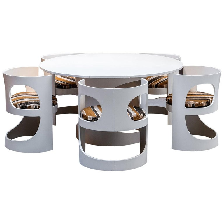 White Dining Room Set Sale: Arne Jacobsen White Lacquered Pre Pop Dining Room Set For