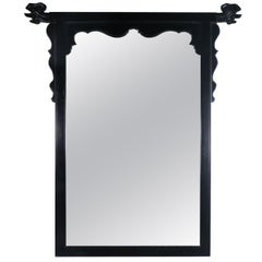 Vintage Chin Hua Ebonized Mirror by Raymond K. Sobota for Century Furniture
