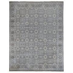 Grey  Traditional Design Wool Area Rug