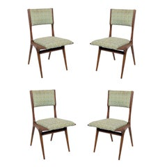 Set of Four Italian Dining Chairs by Carlo di Carli