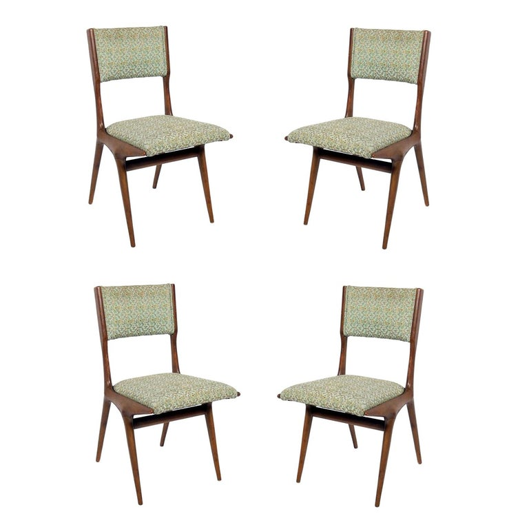Set of Four Italian Dining Chairs by Carlo di Carli For Sale
