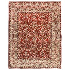 Antique Room Size Persian Kerman Carpet. Size: 8 ft 9 in x 11 ft 2 in