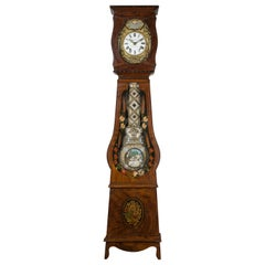 19th Century French Comtoise Grandfather Clock with Automated Pendulum