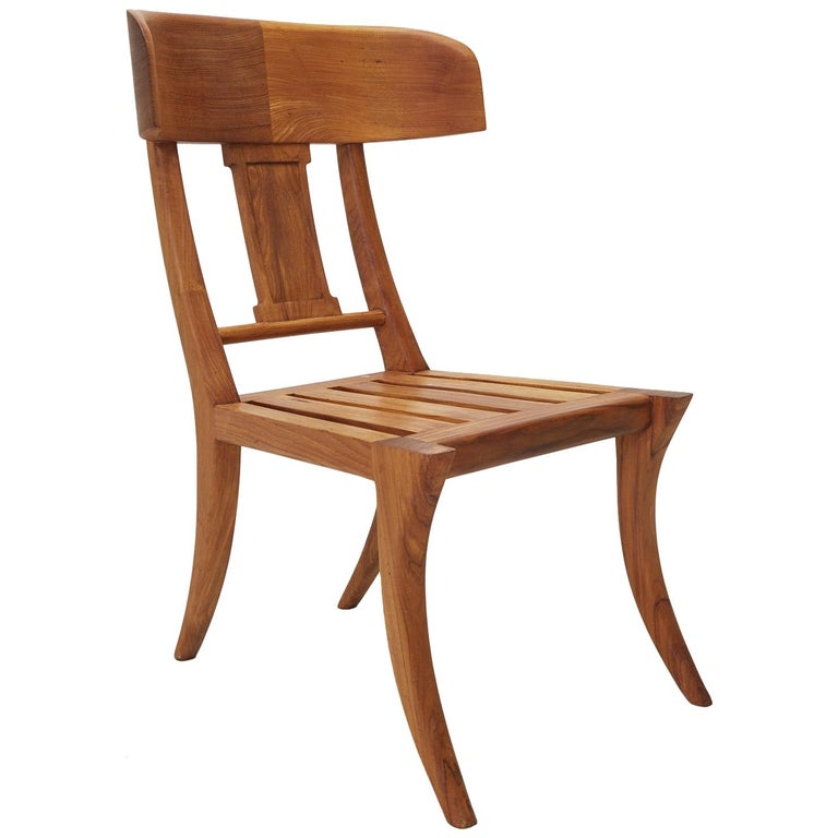 Teak Klismos Side or Dining Chair by Michael Taylor Collections For Sale